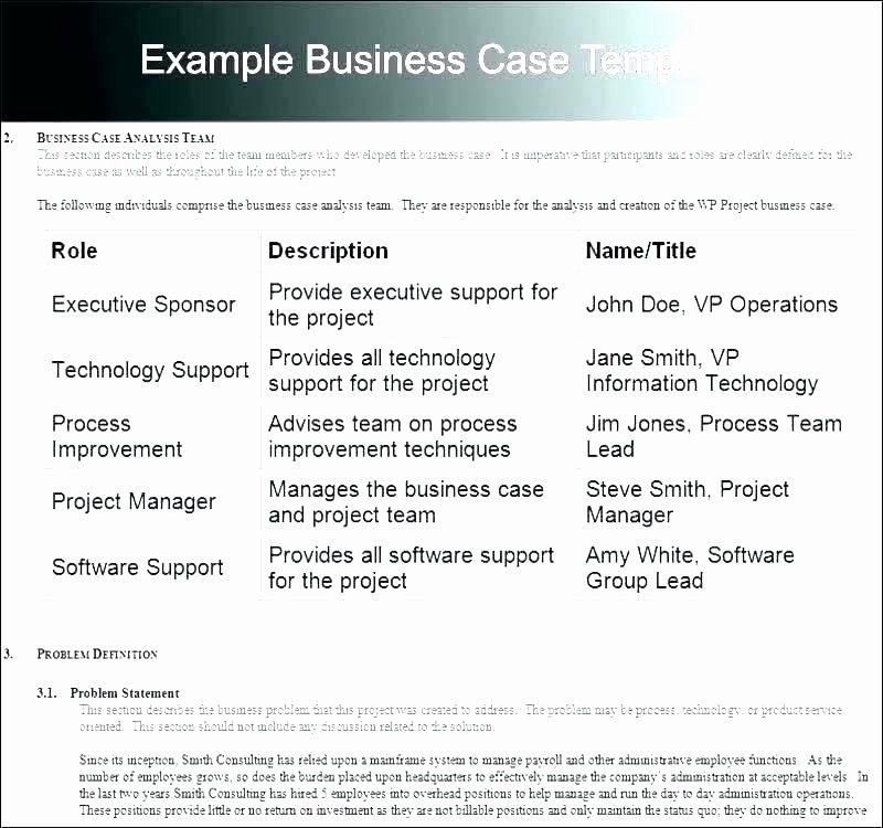 Business Case for Promotion Template Elegant Business Case for Promotion Template