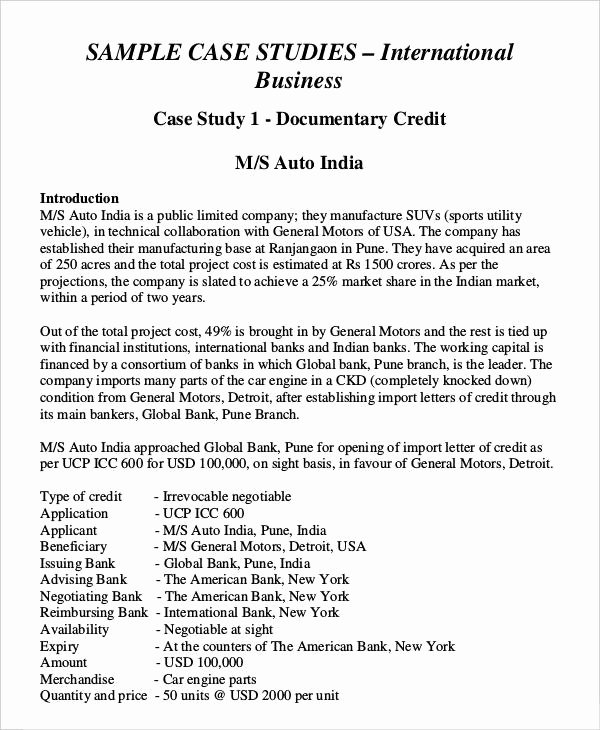 Business Case Study Examples Awesome 37 Case Study Templates Word Pdf Pages
