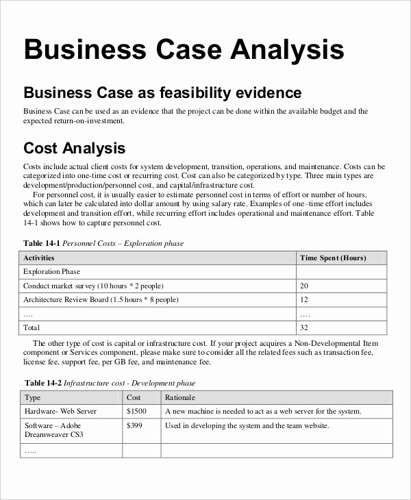 Business Case Study Examples Elegant Free 34 Financial Analysis Examples & Samples In Pdf
