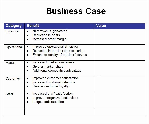 Business Case Study Examples Lovely Business Case Template 7 Free Pdf Doc Download