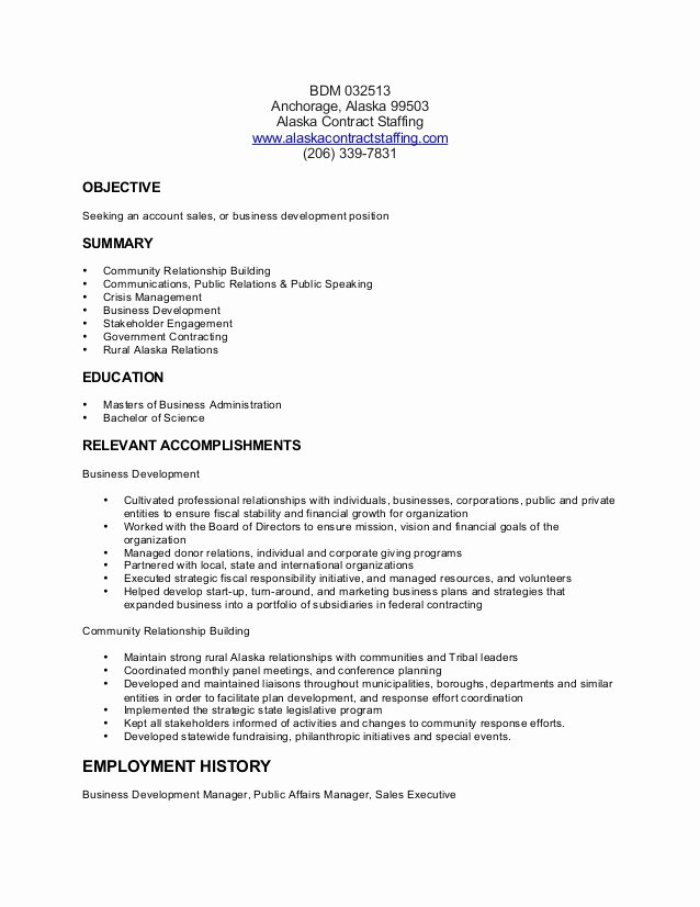 Business Development Manager Resume Beautiful Business Development Manager Resume Bsd