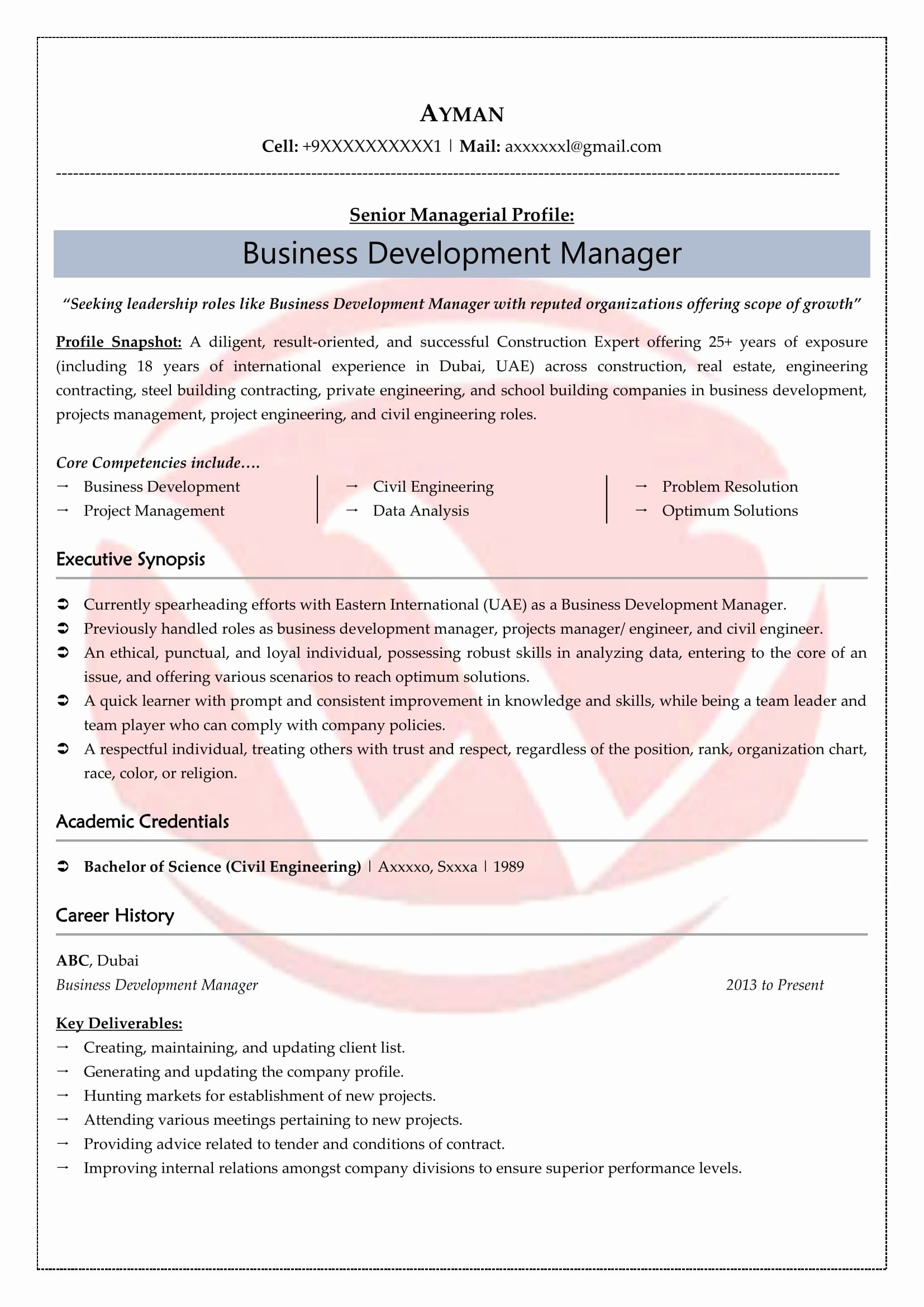 Business Development Manager Resume Inspirational Business Development Sample Resumes Download Resume