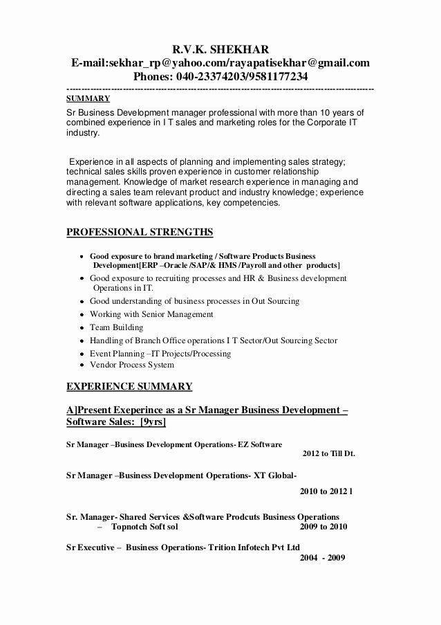 Business Development Manager Resume Luxury Updated Business Development Manager Resume 1