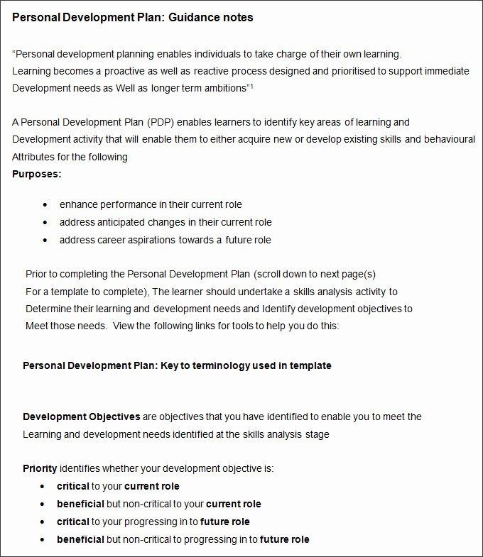 Business Development Plan Example Fresh Sample Personal Development Plan Template 8 Free Sample