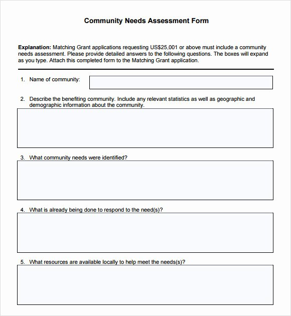Business Needs assessment Template Awesome Munity Needs assessment 8 Free Download for Pdf