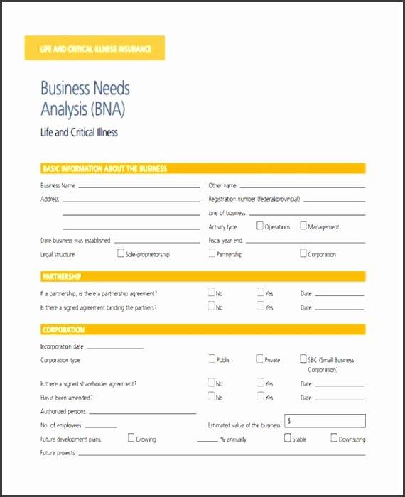 Business Needs assessment Template Best Of 7 Business Needs assessment Template Sampletemplatess