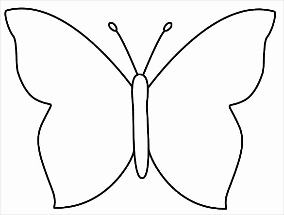 Butterfly Cut Out Template Awesome 28 butterfly Templates Printable Crafts & Colouring