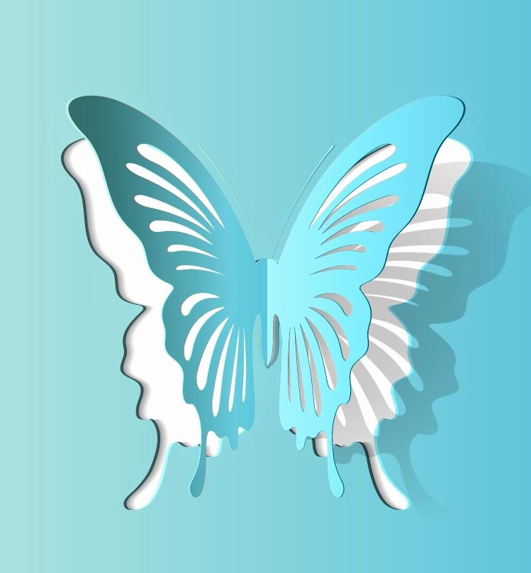 Butterfly Cut Out Template Best Of butterfly Paper Cutting Vector 2 1000vectors