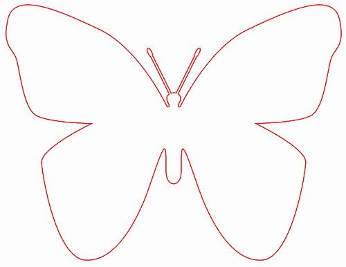 Butterfly Cut Out Template Fresh Best S Of butterfly Template Printable