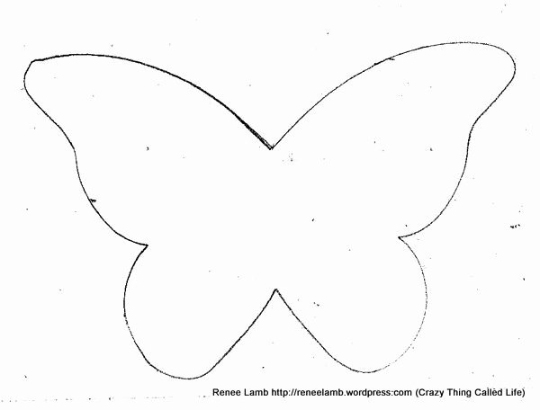 Butterfly Cut Out Template Inspirational butterfly 2 600×456 Pixels