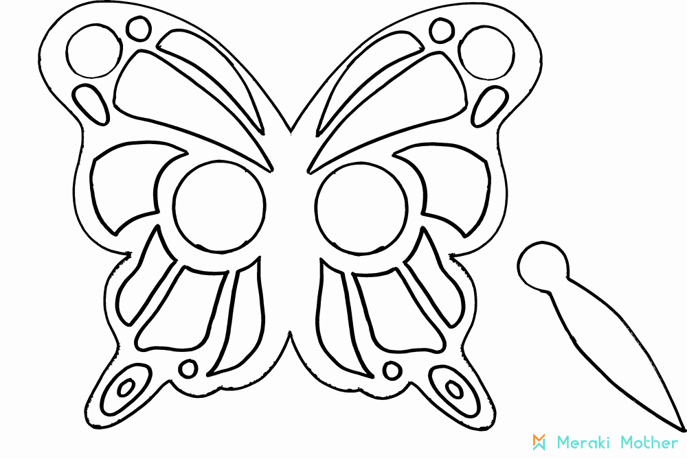 Butterfly Cut Out Template Lovely Paper butterfly Mask Meraki Mother