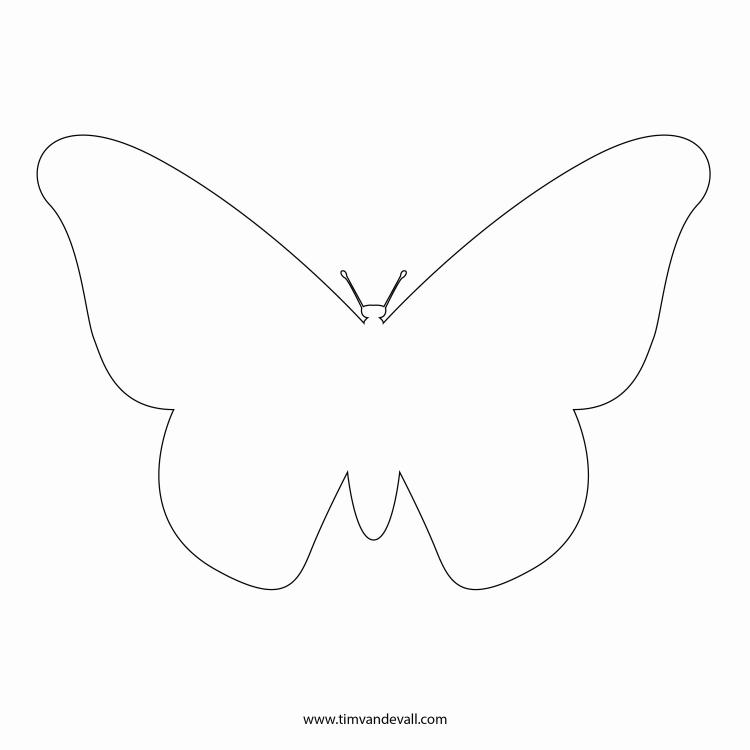 Butterfly Cut Out Template Luxury Free butterfly Stencil
