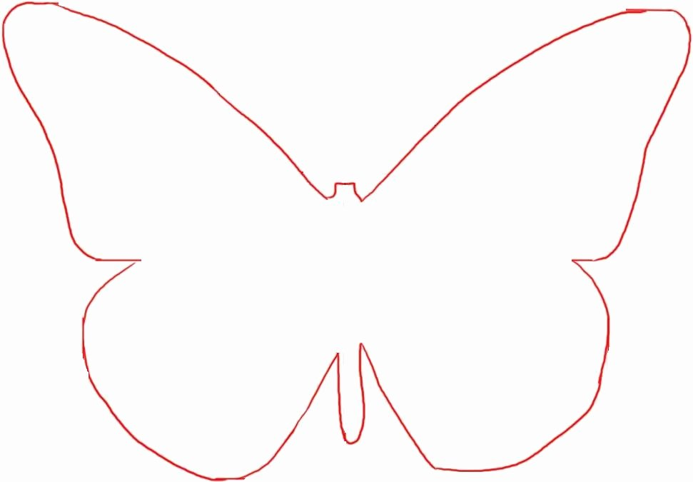 Butterfly Cut Out Template New butterfly Template Printable