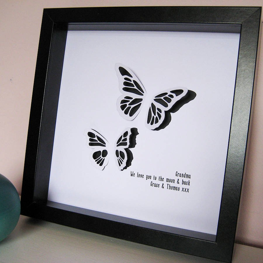 Butterfly Paper Cut Out Inspirational butterfly Paper Cut Framed by Yours for Keeps