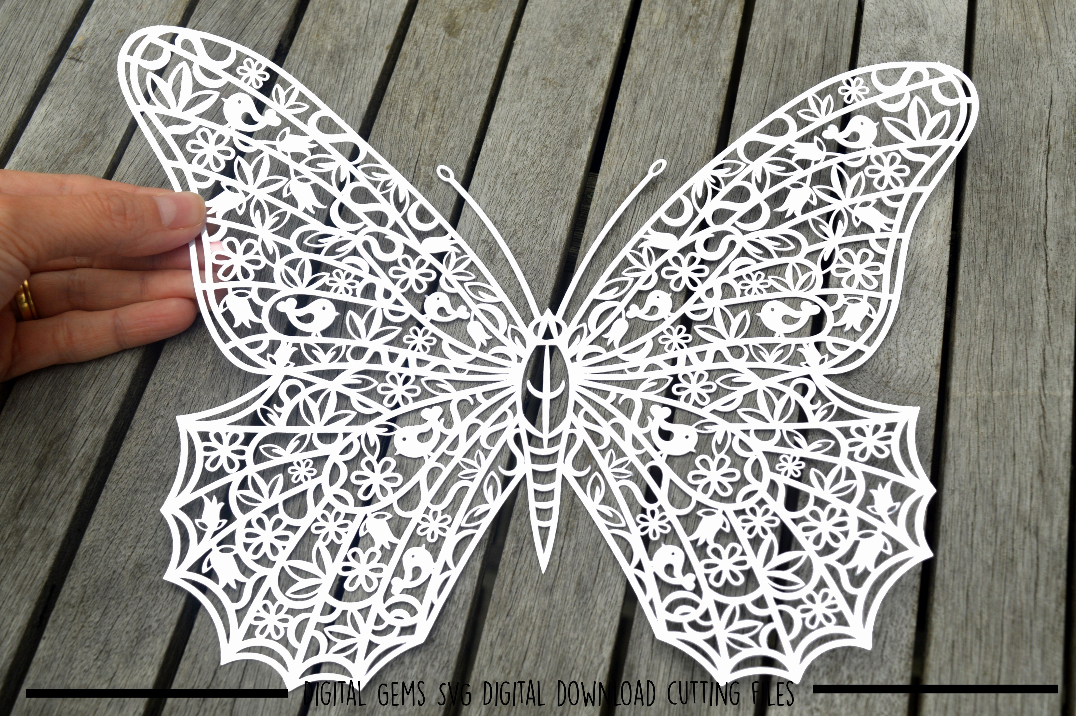 Butterfly Paper Cut Out New butterfly Paper Cut Svg Dxf Eps Files
