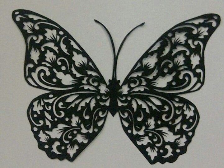 Butterfly Paper Cut Out New the butterfly Papercut Art Pinterest