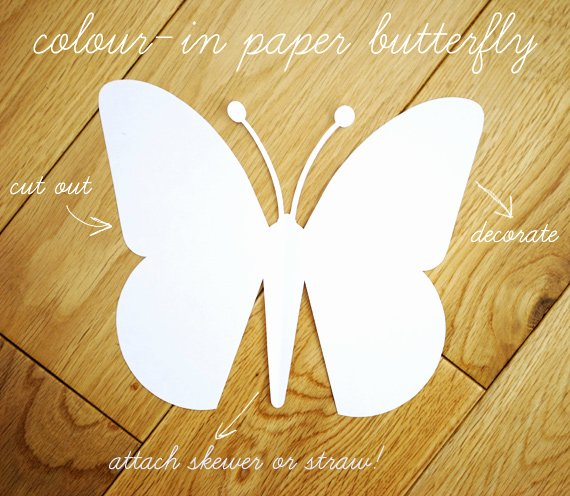 Butterfly Paper Cut Out Unique Quick Kids Craft Paper butterfly with Template