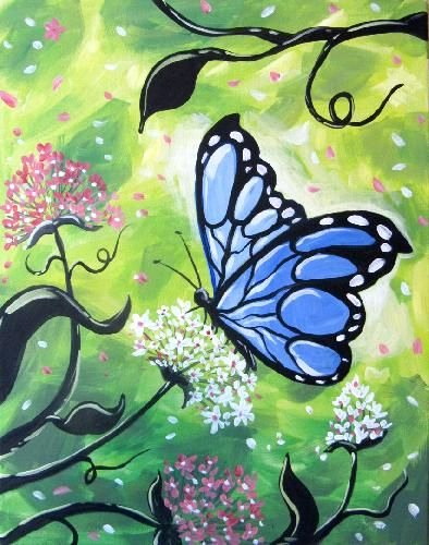 Butterfly Pictures to Paint Best Of Best 25 butterfly Painting Ideas On Pinterest