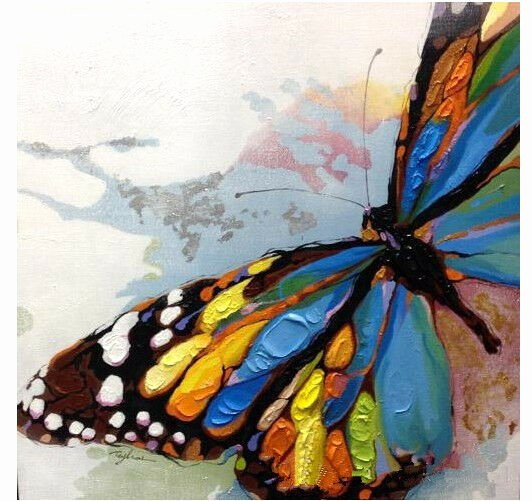 Butterfly Pictures to Paint Luxury Hand Painted Beautiful butterfly Abstract Canvas Oil