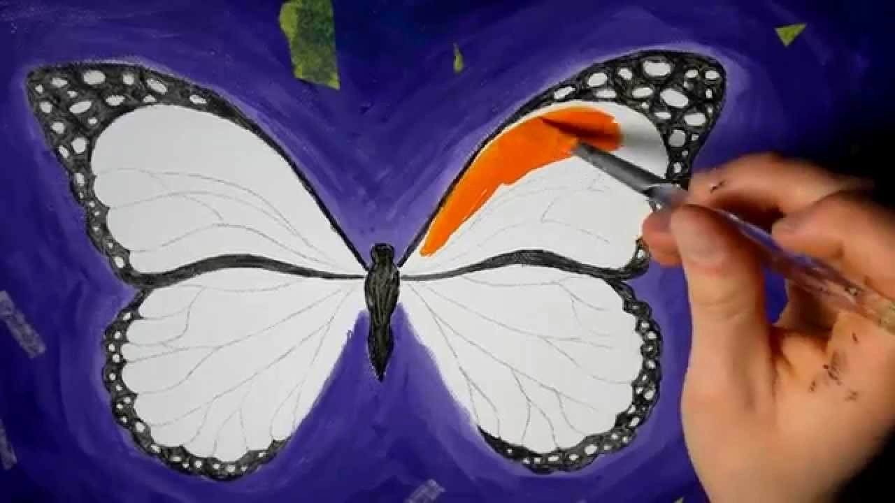 Butterfly Pictures to Paint New butterfly Acrylic Speed Painting
