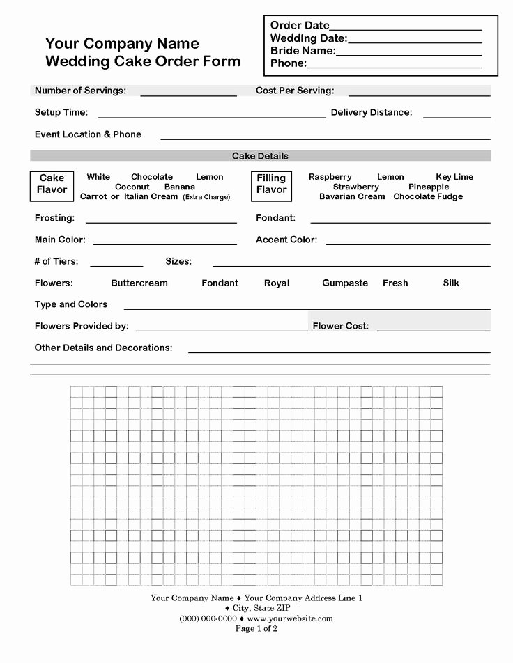 Cake order form Templates Fresh 23 Best Cake order forms Images On Pinterest