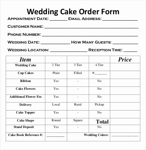 Cake order forms Templates Beautiful Image Result for Cake order form Template Free