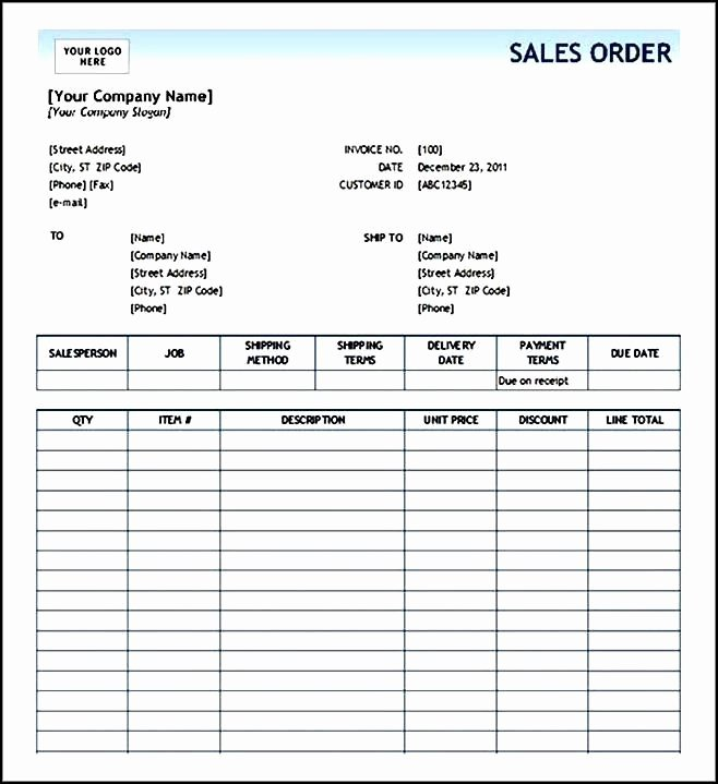 Cake order forms Templates Best Of order form Template Free Sample order Templates