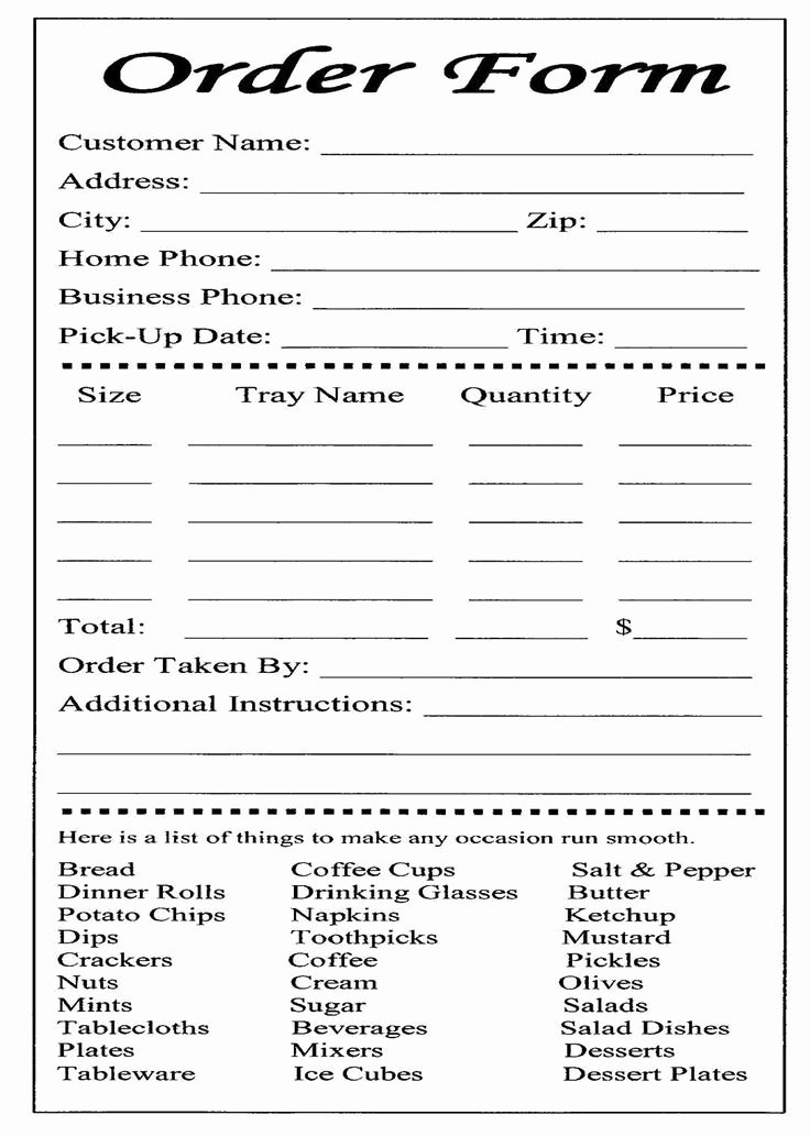 Cake order forms Templates Elegant Wedding Cake order form Catering Business