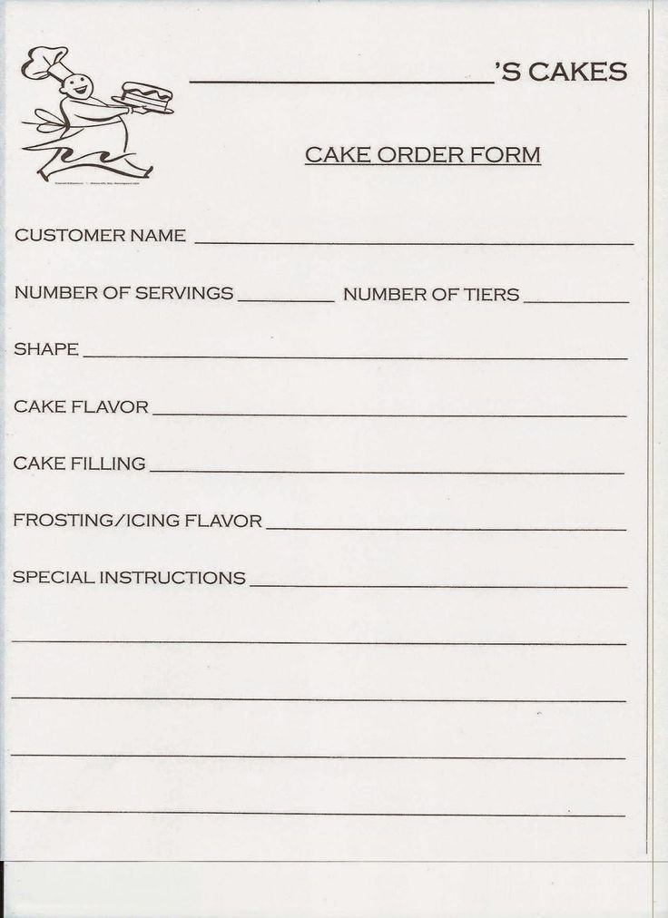Cake order forms Templates Inspirational Best 20 order Cake Ideas On Pinterest