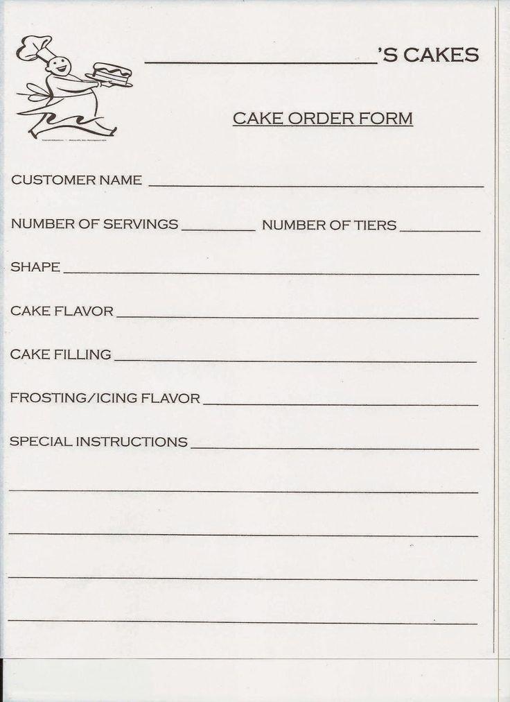 Cake order forms Templates Inspirational Best 20 order Cake Ideas On Pinterest