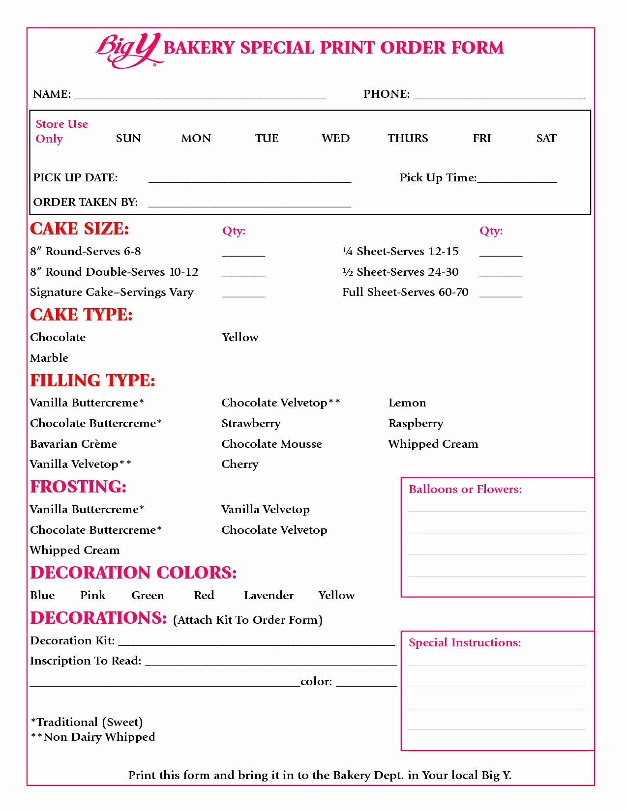 Cake order forms Templates Luxury Bakery Costing Spreadsheet