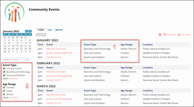 Calendar Of events Template Awesome Trumba Help Trumba Help Implementation Guide