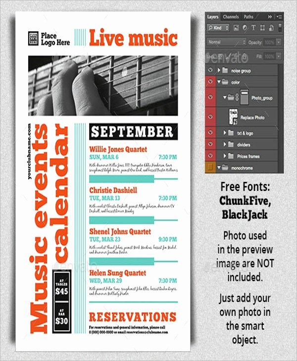 Calendar Of events Template Fresh 17 Calendar Flyer Templates Psd In Design Vector Eps