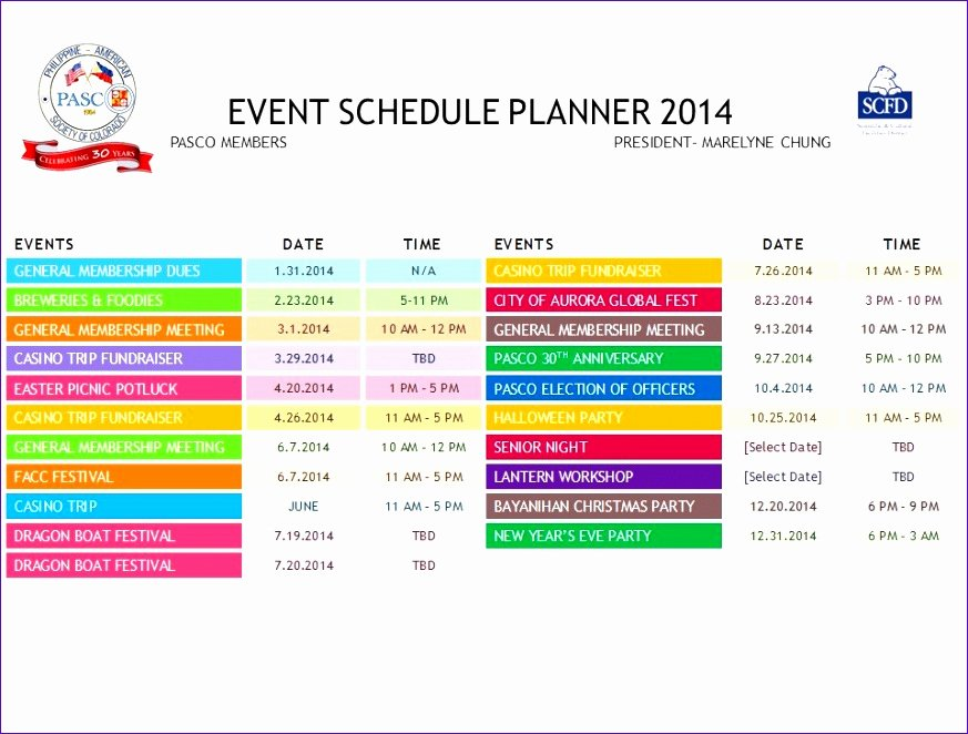 Calendar Of events Template Inspirational 12 Excel Daily Calendar Template Exceltemplates
