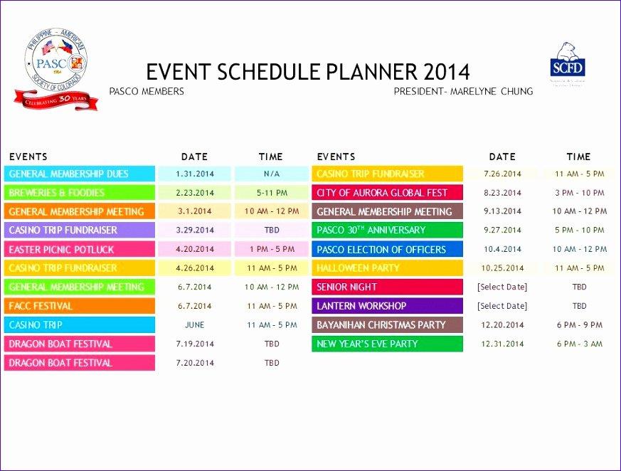 Calendar Of events Template Inspirational 12 Excel Daily Calendar Template Exceltemplates