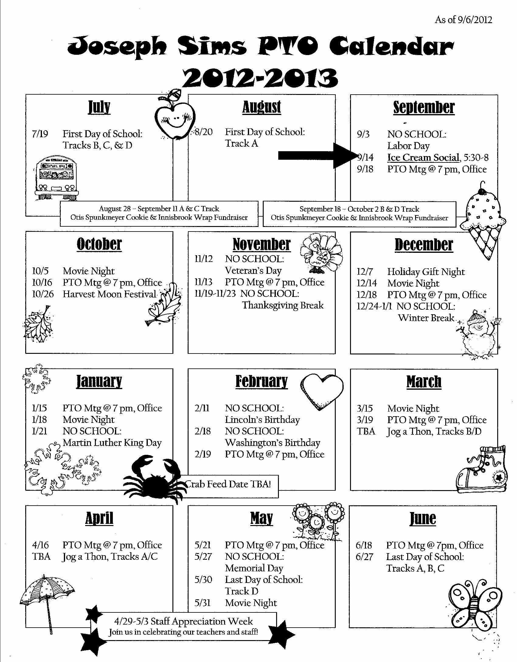 Calendar Of events Template Inspirational Calendar Newsletter School Pto Ideas