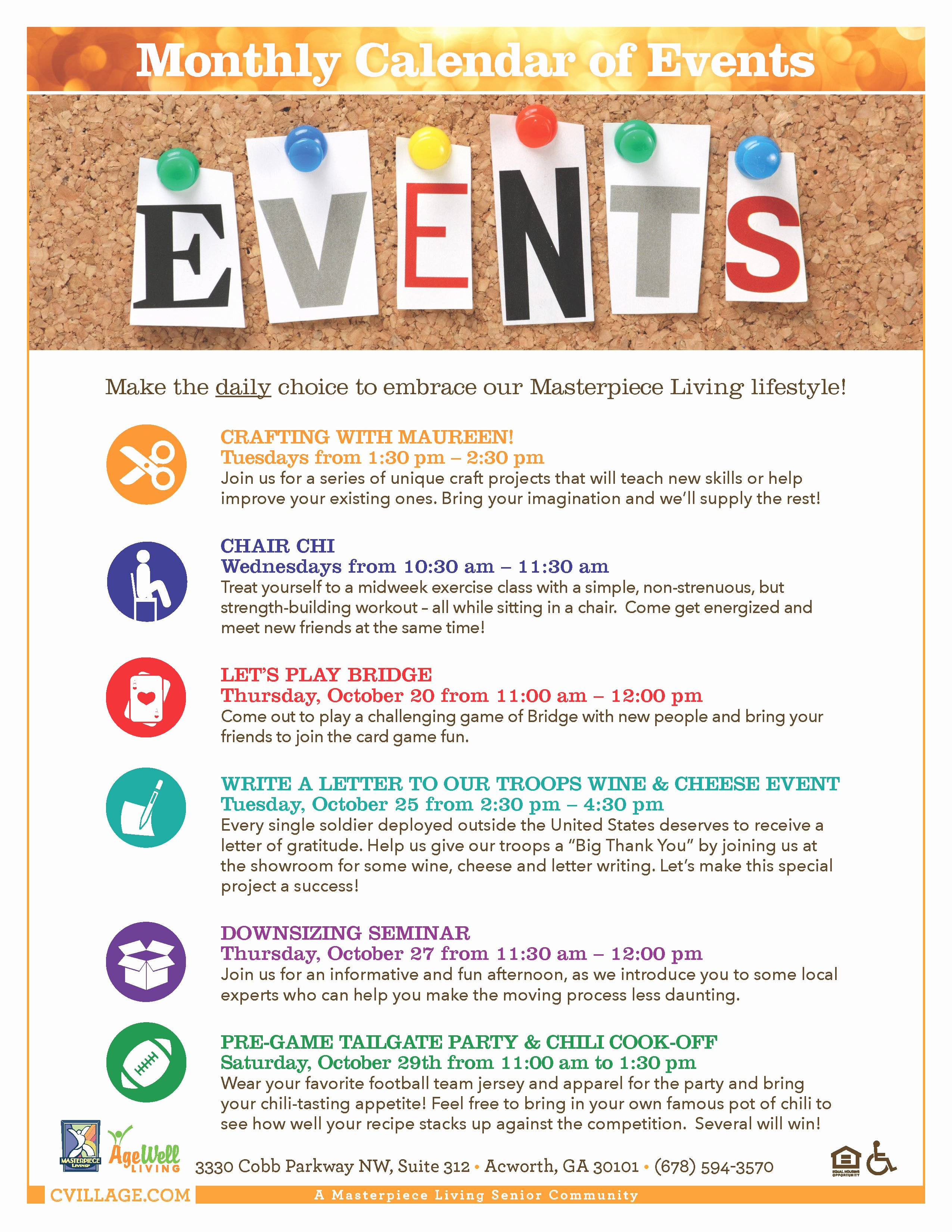 Calendar Of events Template Lovely Celebration Village Write A Letter to Our Troops Campaign