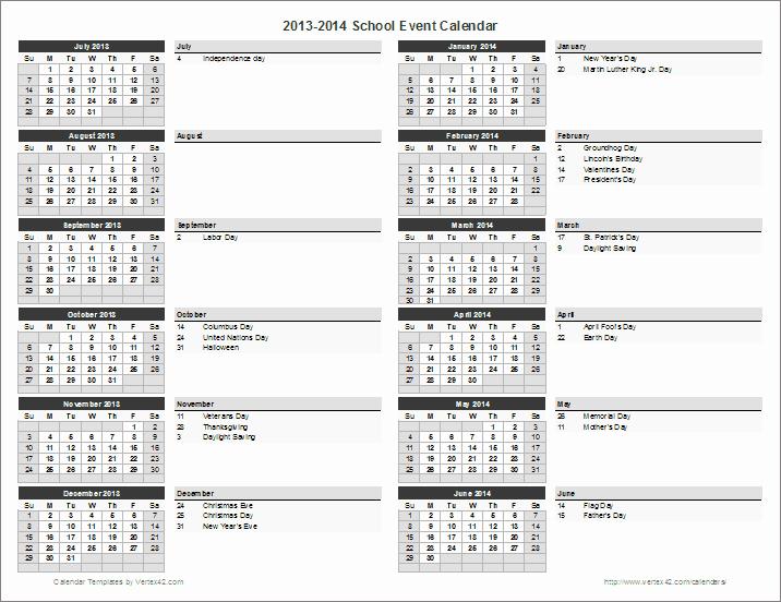 Calendar Of events Template Luxury School Calendar Template 2019 2020 School Year Calendar