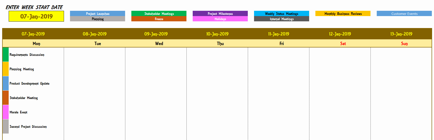 Calendar Of events Template New Excel Calendar Template Excel Calendar 2019 2020 or Any