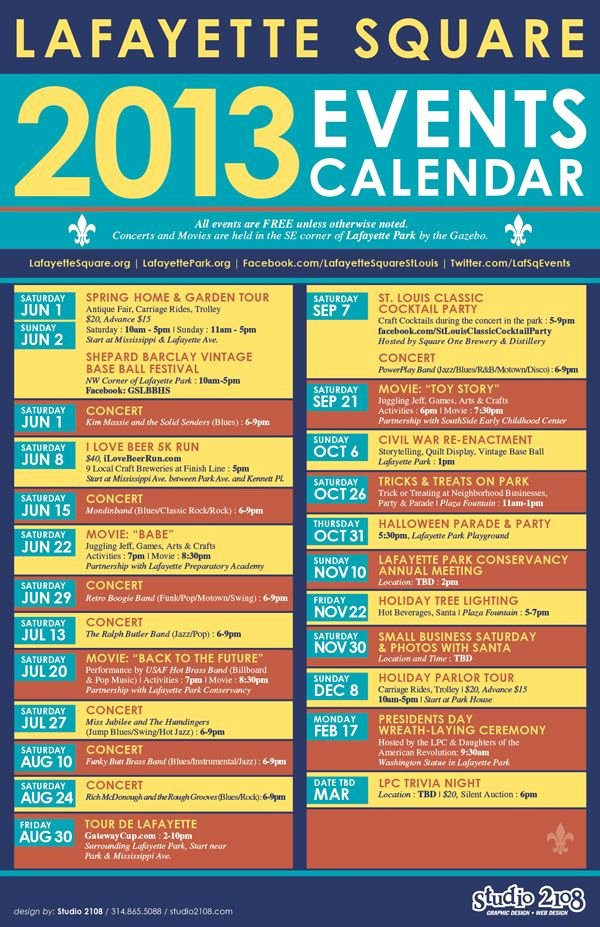 Calendar Of events Template New Lafayette Square events Calendar Home