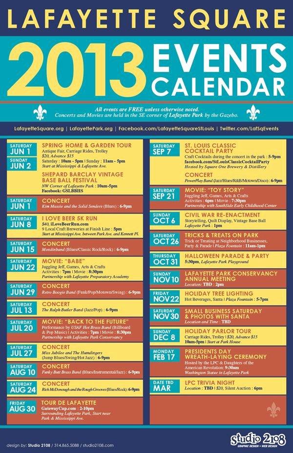 Calendar Of events Template New Lafayette Square events Calendar Home