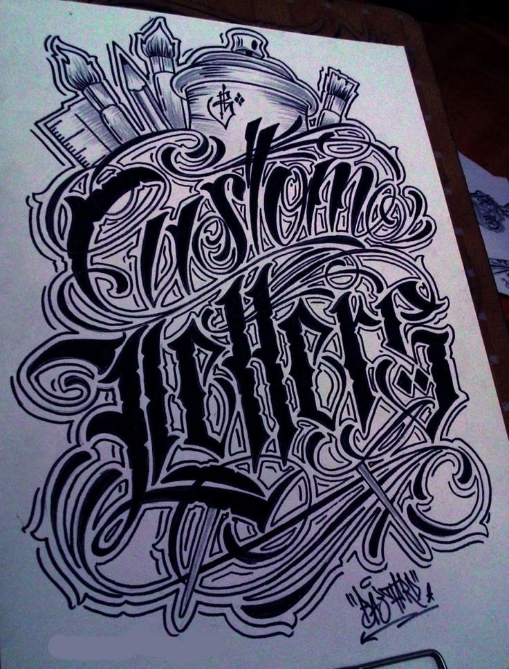 Calligraphy Font for Tattoo Beautiful Chicano Lettering Alphabet Chicano Lettering Lettering