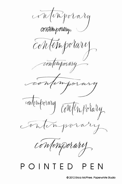 Calligraphy Font for Tattoo Beautiful Contemporary Calligraphy by Erica Mcphee Paperwhite Studio