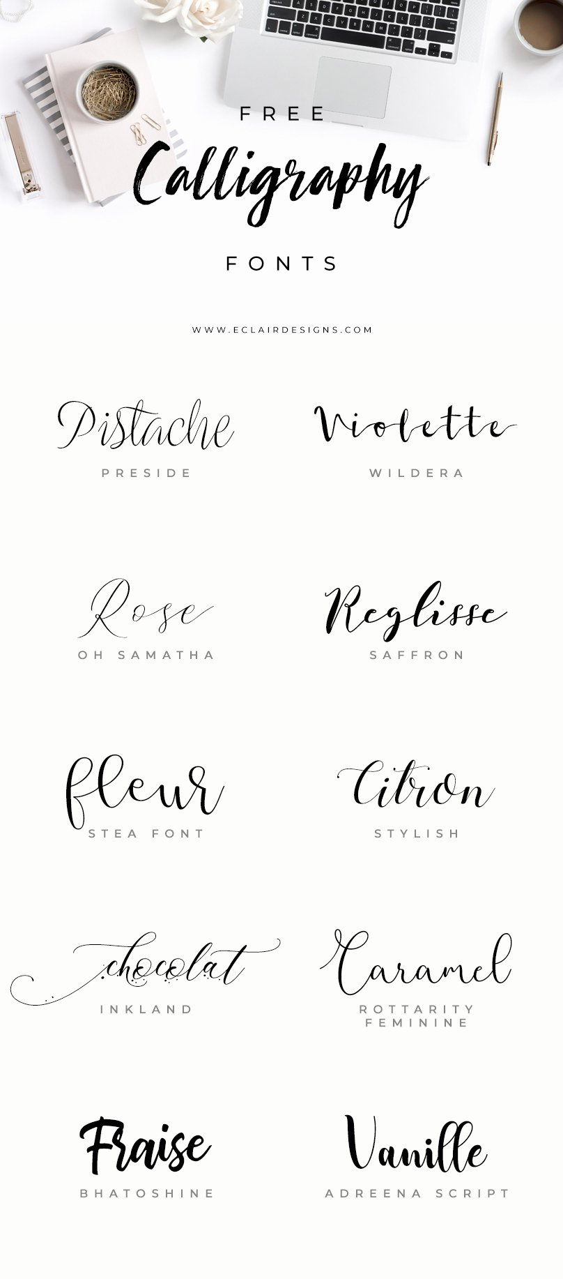 Calligraphy Font for Tattoo Best Of Eclair Designs 10 Free Calligraphy Fonts