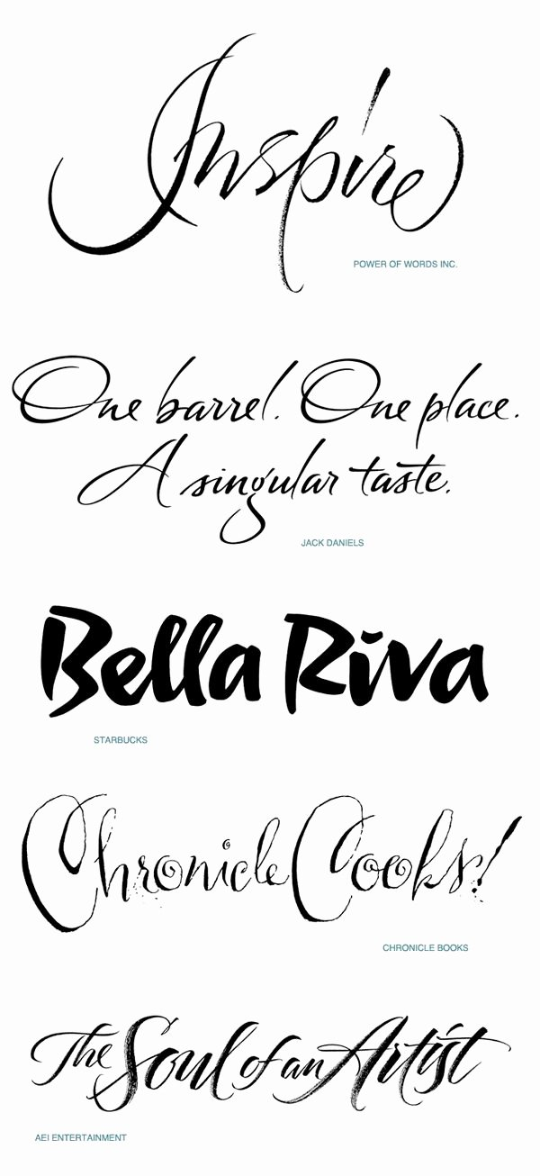 Calligraphy Font for Tattoo Elegant Inspire Script Calligraphy Collection by iskra