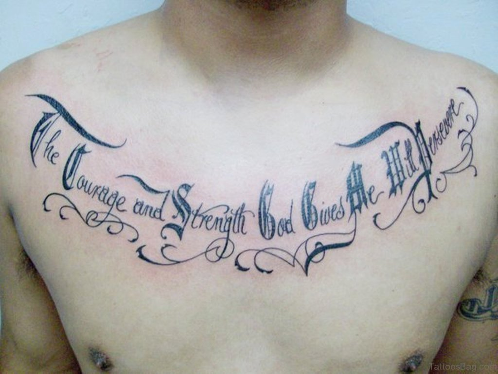 Calligraphy Font for Tattoo Inspirational 68 Outstanding Chest Tattoos