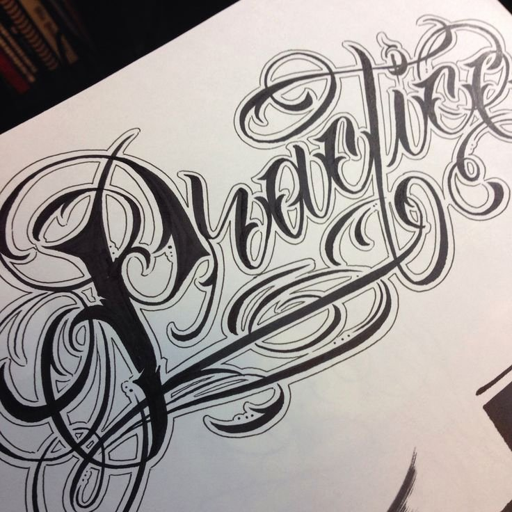 Calligraphy Font for Tattoo Lovely Lettering by Cj Quiroz Inkbycj