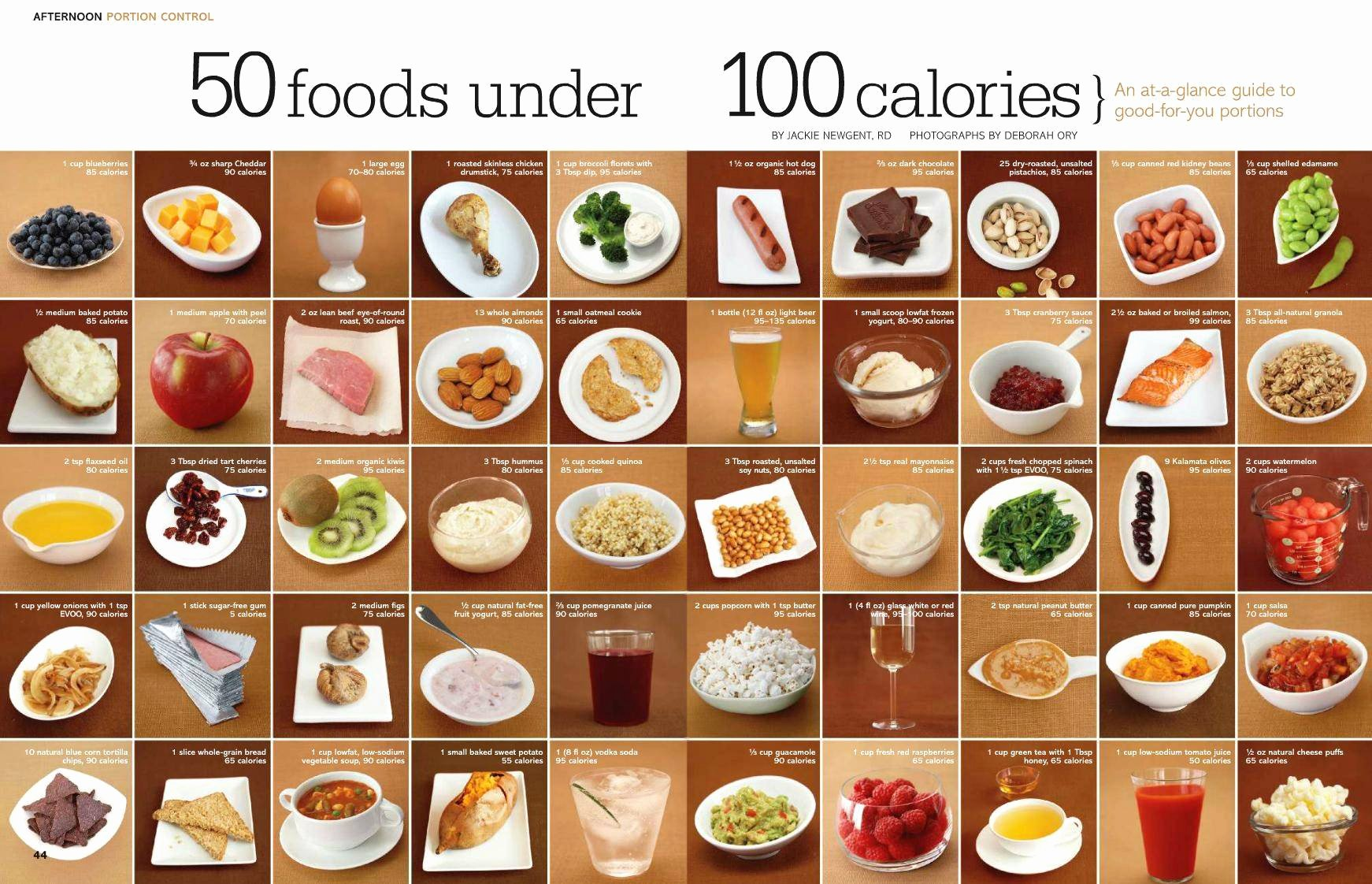 Calories In All Foods Chart Unique Home Life Weekly 50 Foods Under 100 Calories Home Life