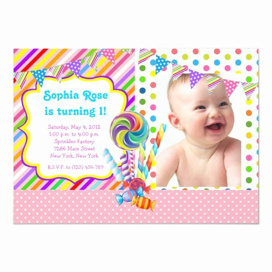 Candyland Birthday Party Invitations Beautiful Candyland Candy theme Birthday Invitation