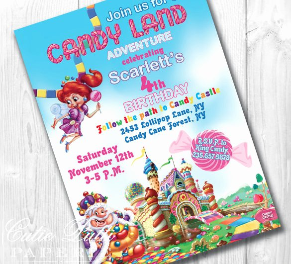 Candyland Birthday Party Invitations Best Of 14 Wonderful Candyland Invitation Templates Psd Ai